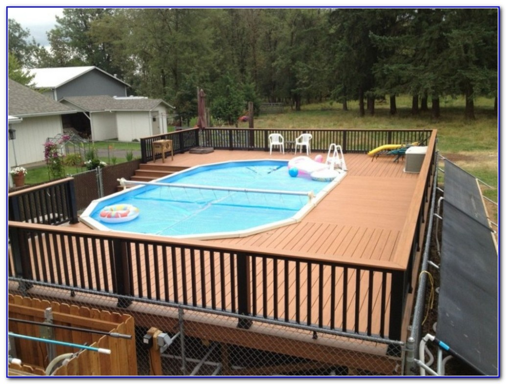 Swimming Pool Decks Above Ground Designs - Decks : Home ...