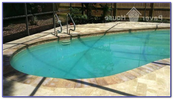 Travertine Paver Pool Deck
