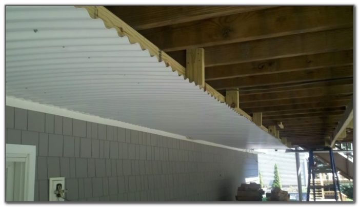 Under Deck Roof Ideas