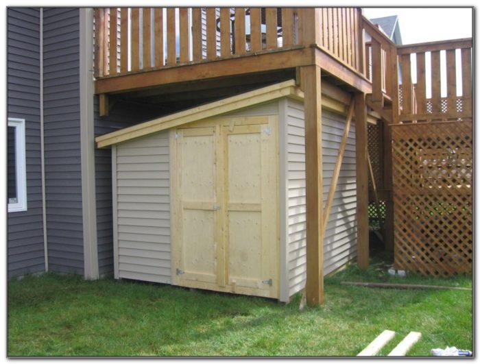 Under Deck Storage Ideas
