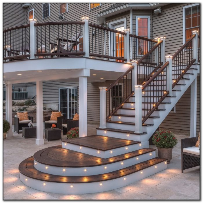 Under Rail Deck Lighting Ideas