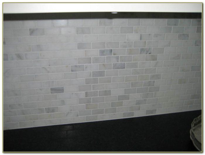 White Carrara Marble Subway Tile