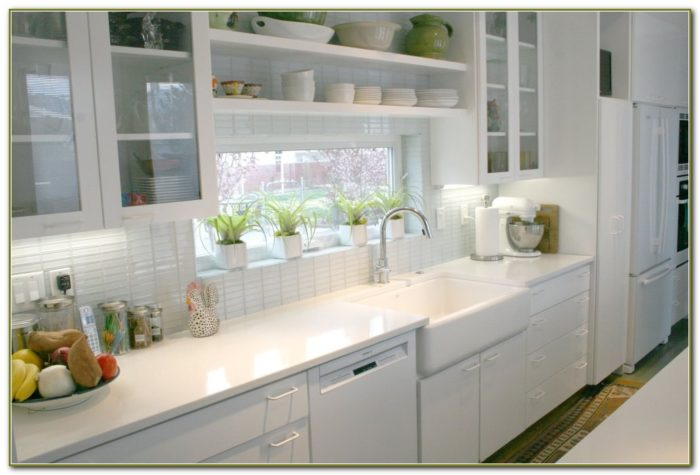 White Kitchen Subway Tile Backsplash