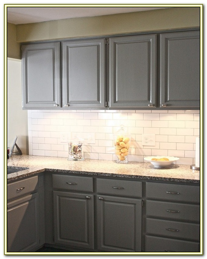 White Subway Tile Backsplash Dark Grout