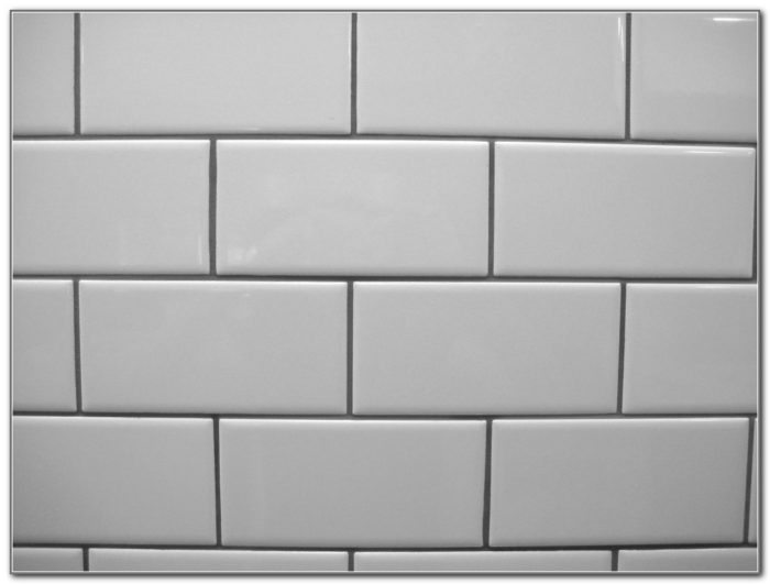 White Subway Tile Light Grey Grout