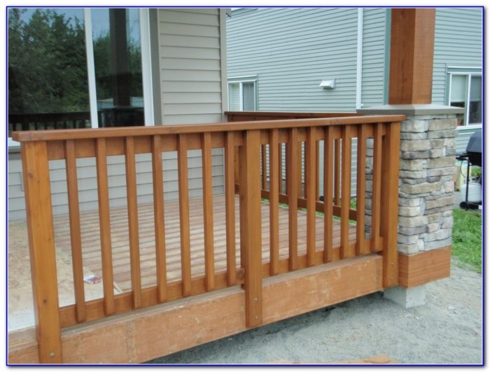 Wood And Aluminum Deck Railing