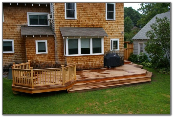 Wood Deck Design Photos