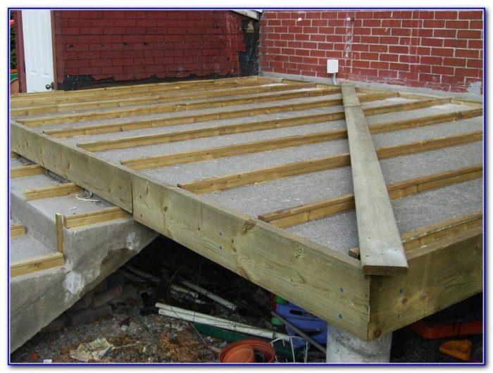 Wood Deck Over Concrete