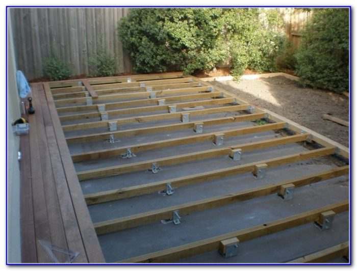 Wood Deck Over Concrete Slab