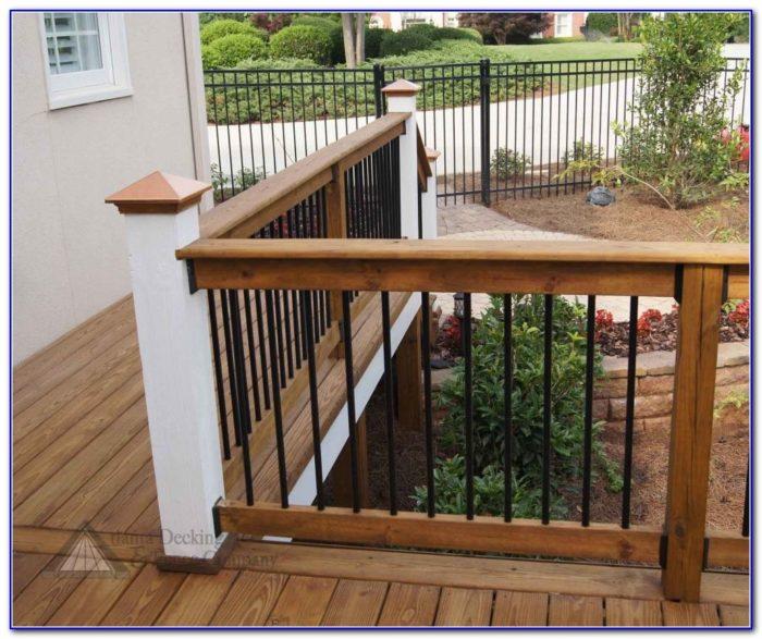 Wood Deck Railing Images