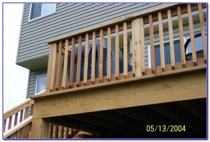 Wood Deck Railings Pictures