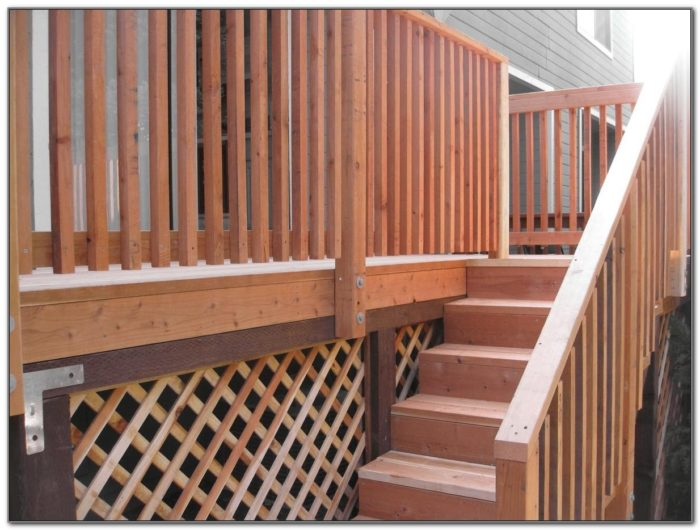 Wood Deck Stair Railing Designs