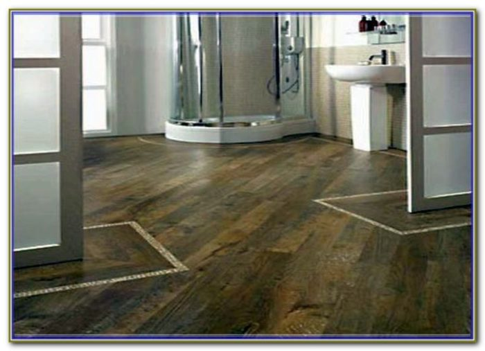 Wood Grain Ceramic Tile Bathroom