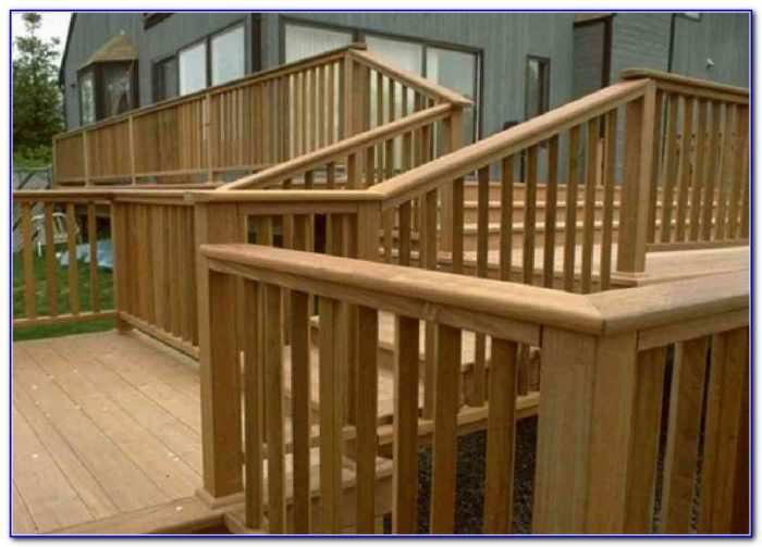 Wooden Deck Railings Ideas