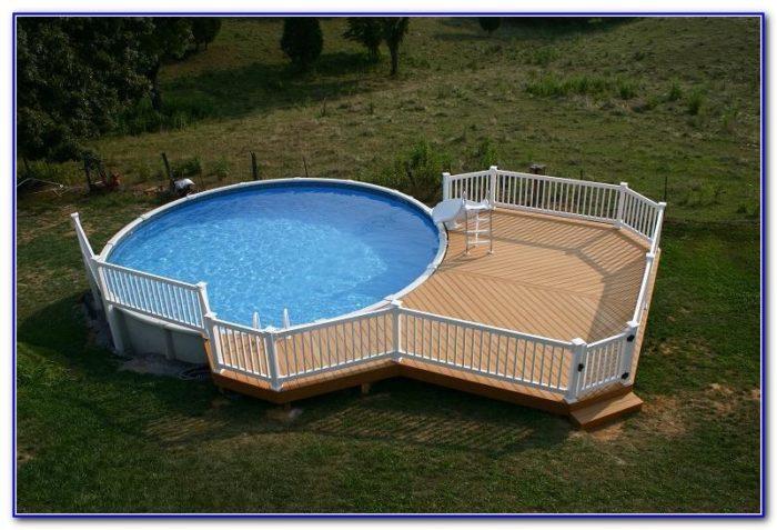 Wooden Decks Around Pools