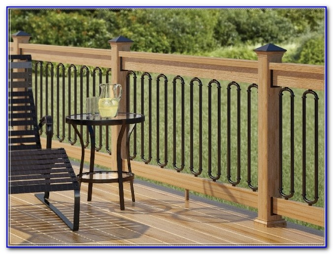 Wrought Iron Deck Railing Systems