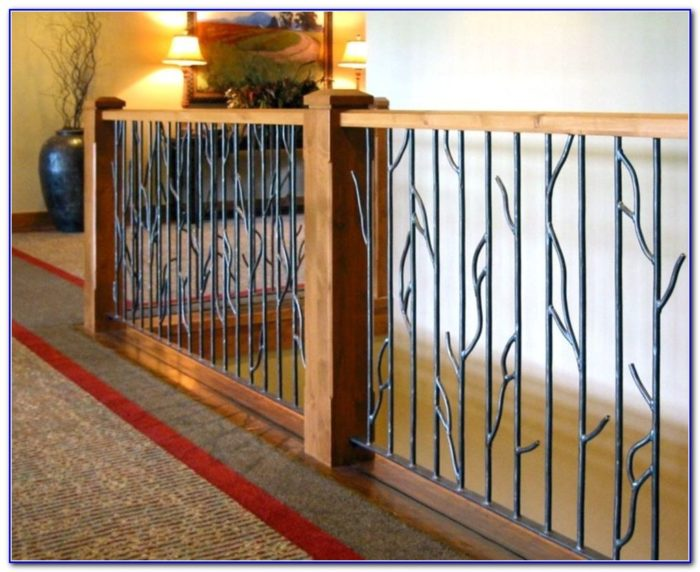 Wrought Iron Deck Stair Railing