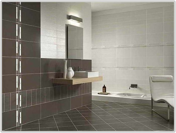 Bathroom Wall Tiles Design Grey