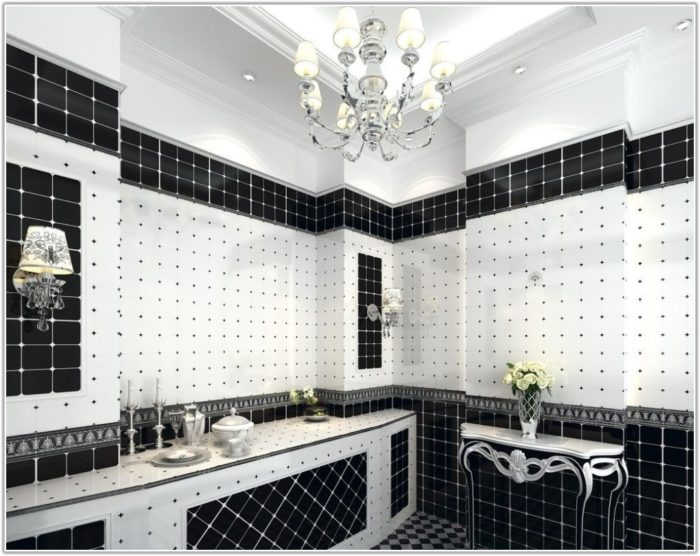 Black And White Bathroom Wall Tile Designs