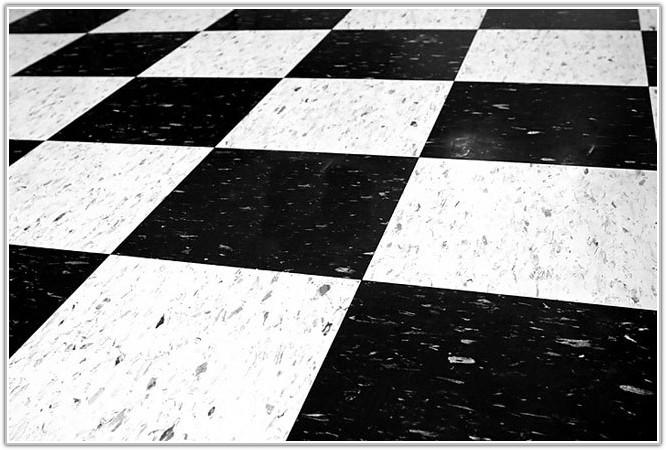 Black And White Floor Tiles Vinyl
