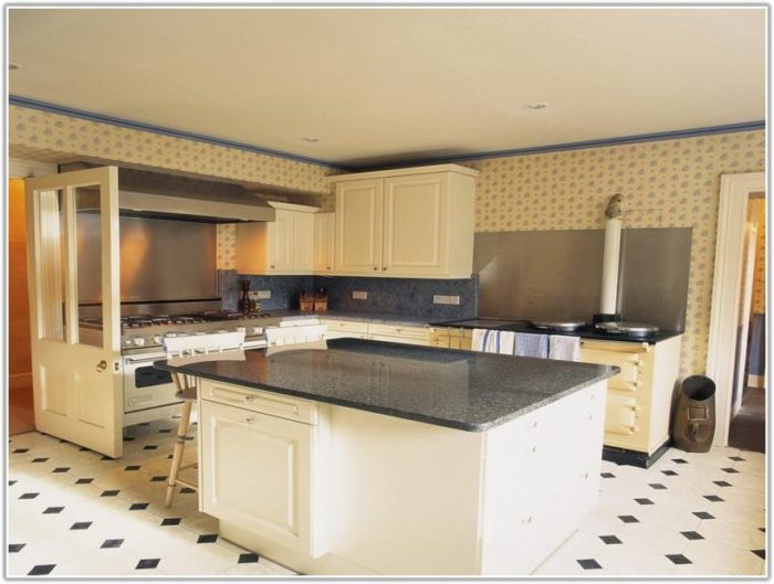 Black And White Kitchen Floor Tiles Design