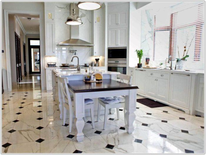 Black And White Kitchen Tile Floor