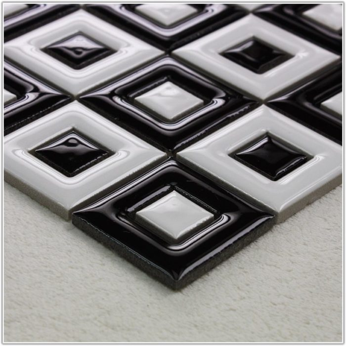 Black And White Porcelain Floor Tiles