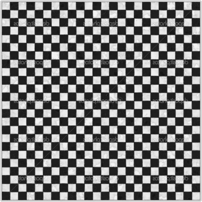 Black And White Tile Floor Bedroom