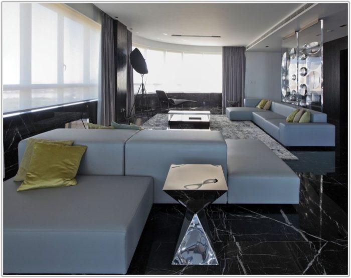 Black Floor Tiles Living Room