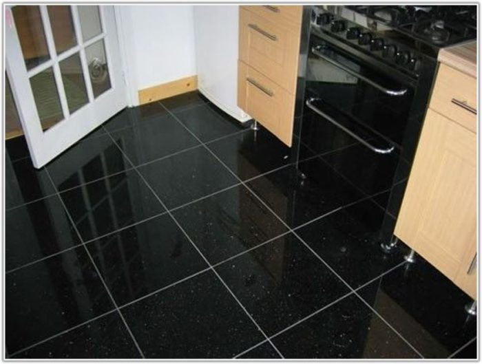 Black Granite Kitchen Floor Tiles