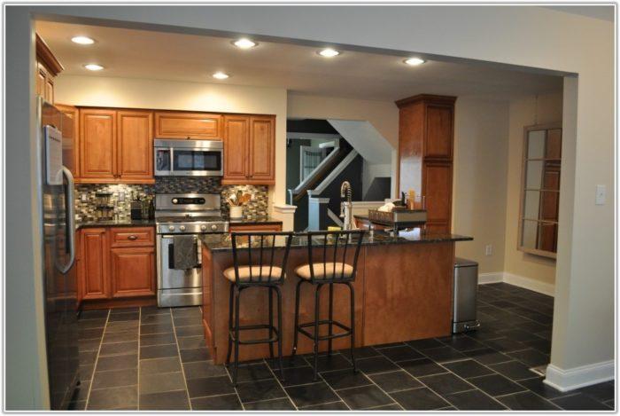 Black Kitchen Floor Tiles Ideas