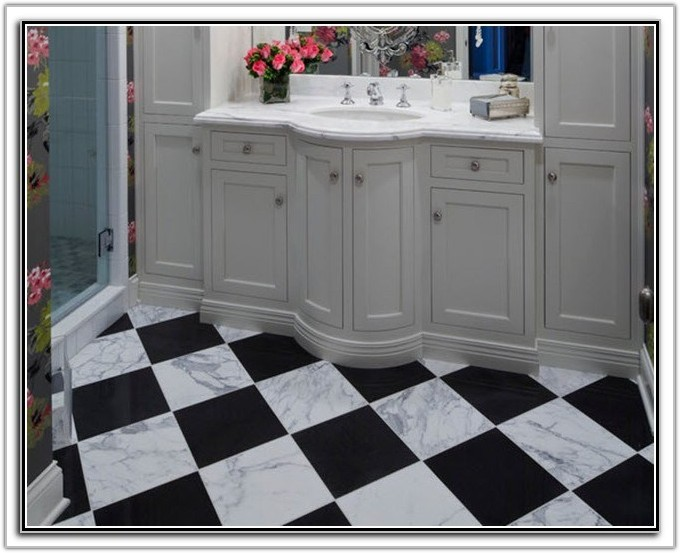 Black Marble Kitchen Floor Tiles