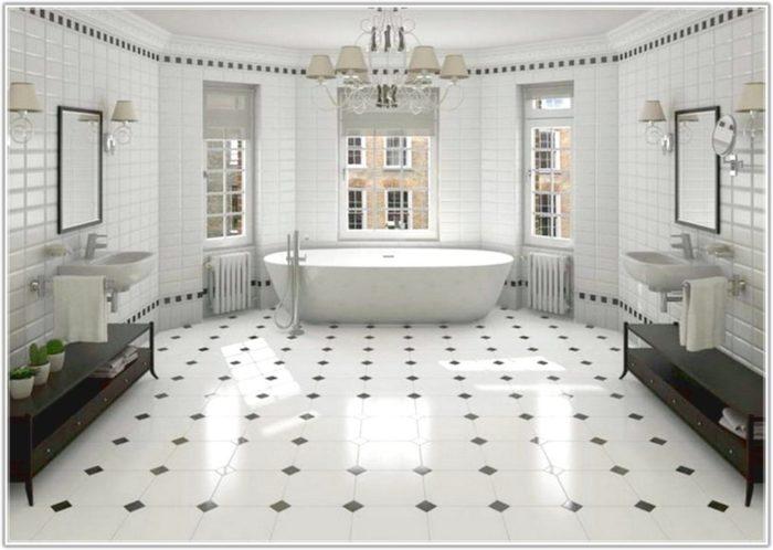 Black White Tile Bathroom Paint Color
