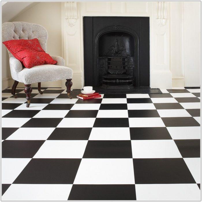 Black White Vinyl Floor Tiles