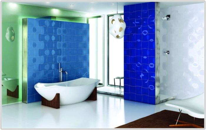 Blue White Bathroom Tile Ideas