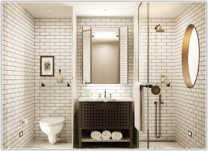Carrara Marble Subway Tiles Bathroom