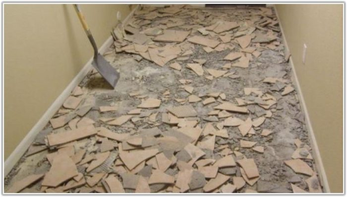 Ceramic Floor Tile Adhesive Removal