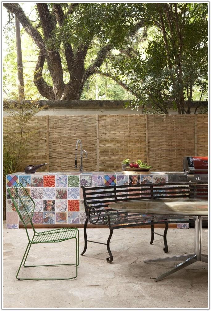 Ceramic Tile Outdoor Patio Table