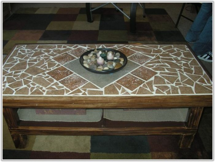 Coffee Table With Tile Top