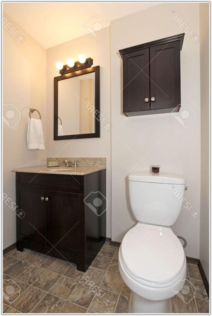 Dark Brown Tile Floor Bathroom