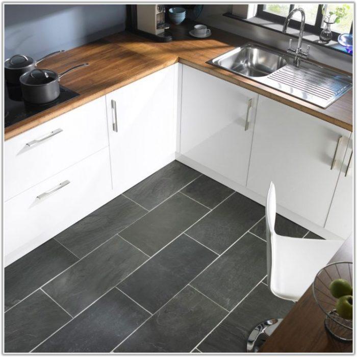 Dark Gray Slate Floor Tile