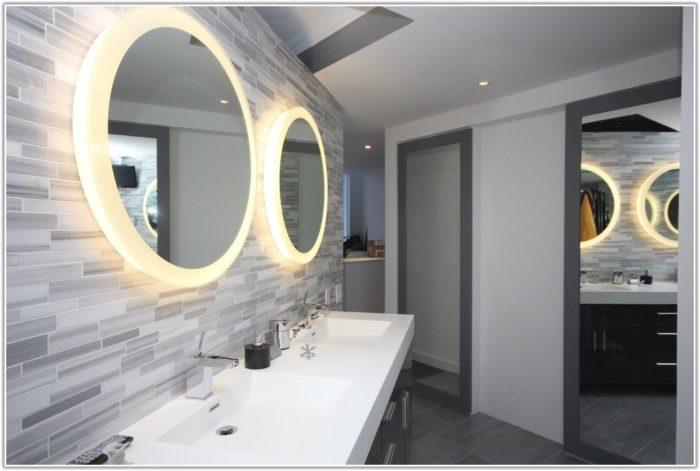 Dark Grey Tile Floor Bathroom