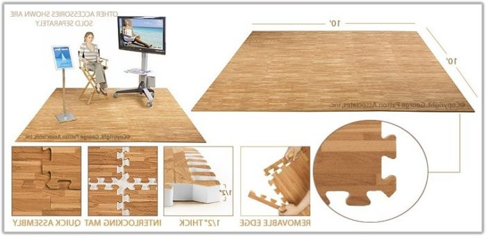 Foam Floor Tiles Wood Look