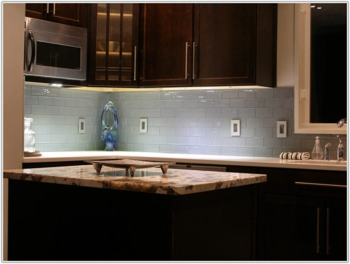 Glass Subway Tiles Kitchen Backsplash