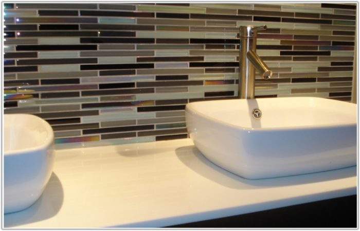 Glass Tile Backsplash Bathroom Ideas