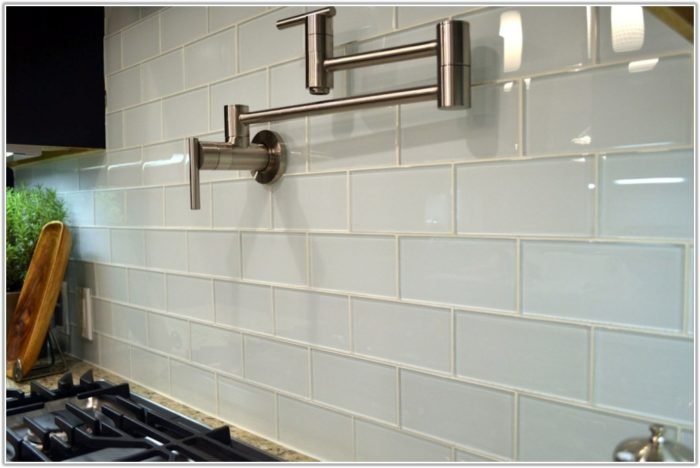 Glass Tile Backsplash Ideas Bathroom