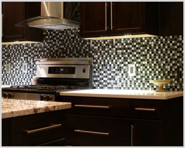 Glass Tile Backsplash Ideas With Dark Cabinets