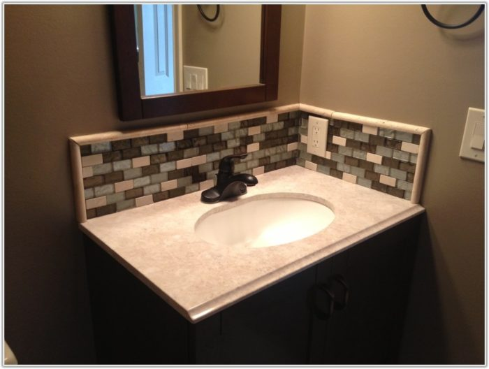 Glass Tile Bathroom Backsplash Ideas