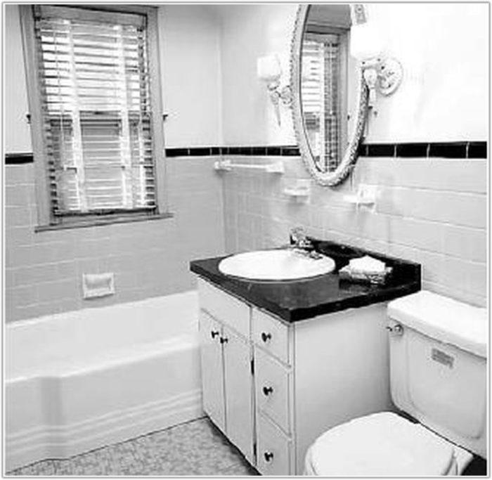 Gray And White Bathroom Floor Tile