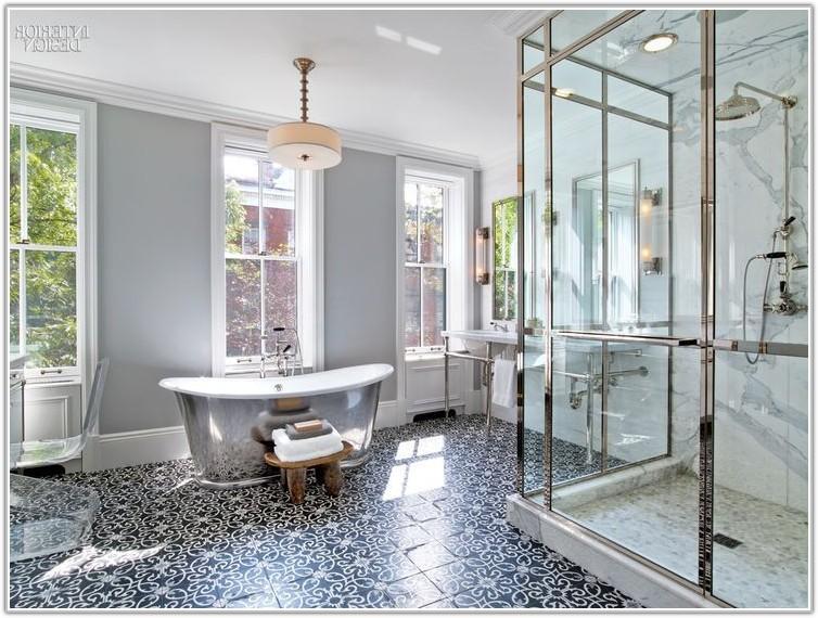 Gray And White Floor Tile